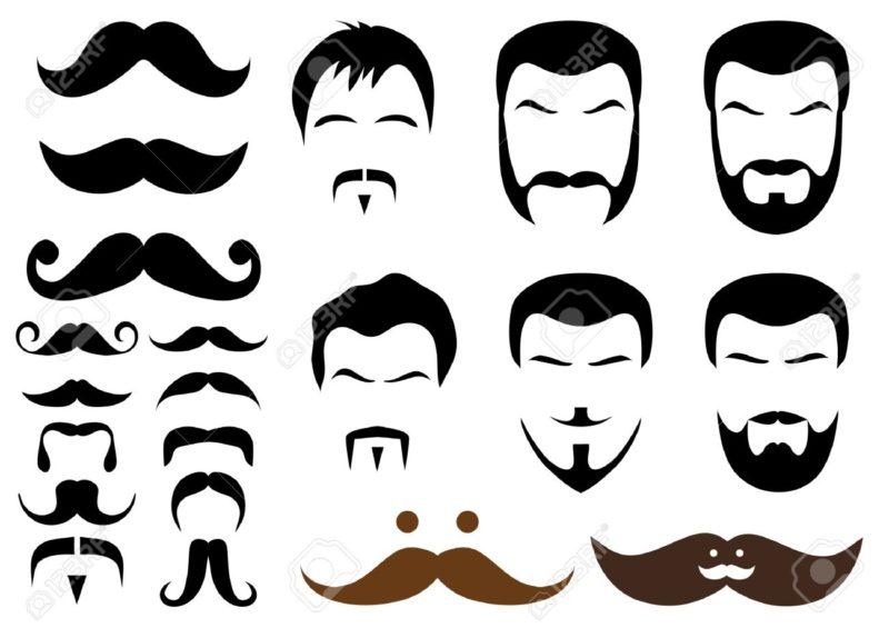 6668600-ensemble-des-dessins-ou-modèles-moustache-et-barbe